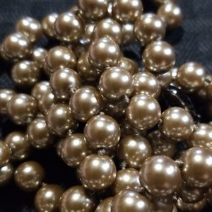 Bronze colored faux pearl necklace
